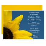 Sunflower and Sky Wedding Anniversary Party Invite