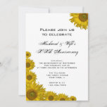 Sunflower Edge Wedding Anniversary Party Invitation