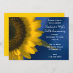 Sunflower on Blue Wedding Anniversary Party Invitation