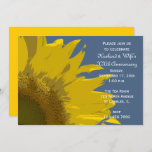 Sunflower Print Wedding Anniversary Party Invitation