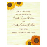 Sunflower wedding Save the date card