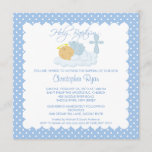 Sweet Baby Boy & Cross Holy Baptism Inviation Invitation