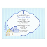 Sweet Baby Boy Baptism Inviation Card
