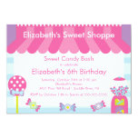 Sweet Shoppe Candy Birthday Party Invitation