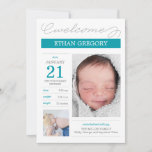 Sweetly Documented Birth Announcements - Bliue