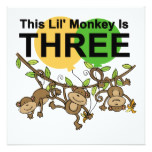 Swinging Monkeys 3rd Birthday tshirts and Gifts Card