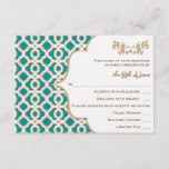 Teal and Gold Moroccan Wedding Response Cards