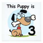 This Puppy 3rd Birthday T-shirts and Gifts Card