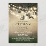 tree branches & string lights rehearsal dinner invitation