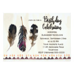 Tribal Feather Adult Birthday Card