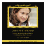 Trunk Party Gold and Black Photo Invitation