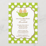 Twins Girls Baby Shower Invitation Little Pea Pod