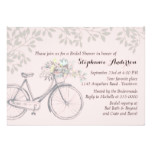 Vintage Bicycle and Leaves Bridal Shower Card