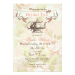 vintage Blush floral Bridal Tea Party Invites