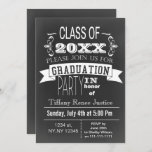 Vintage Chalkboard Graduation party Invitation
