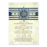 vintage nautical navy rehearsal dinner invitation