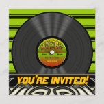 Vintage Reggae Vinyl Record Party Invitations