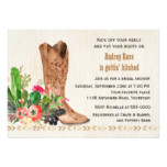 Western Boot and Cactus Bridal Shower Card