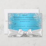 Winter Wonderland Blue Sweet 16 RSVP