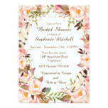 Woodland Watercolor Wreath Bridal Shower Card