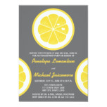 YELLOW AND GRAY LEMON THEMED ENGAGEMENT PARTY INVITATION