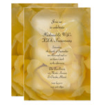 Yellow Fancy Rose Wedding Anniversary Party Invite