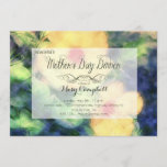 Yellow Flower Mother's Day Dinner Invitation