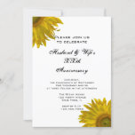 Yellow Sunflower Wedding Anniversary Party Invitation