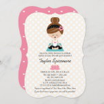 Yoga Bridal Shower Invitations Brunette